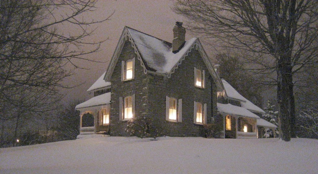 Boyd House on a December night in the early 2000's.