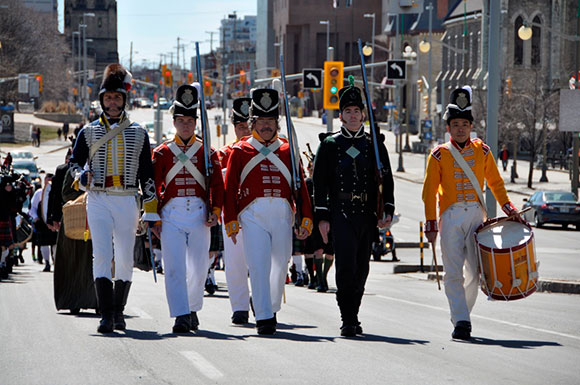 The 100th Regiment at Pipefest 2015.