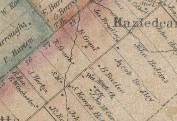 Detail from the 1853 Wallin Map.