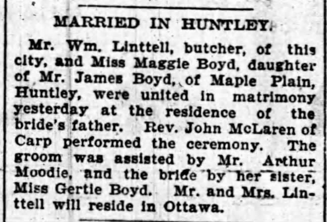 Ottawa Journal, March 1899.