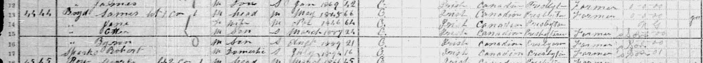 1911 Census, Boyd Detail