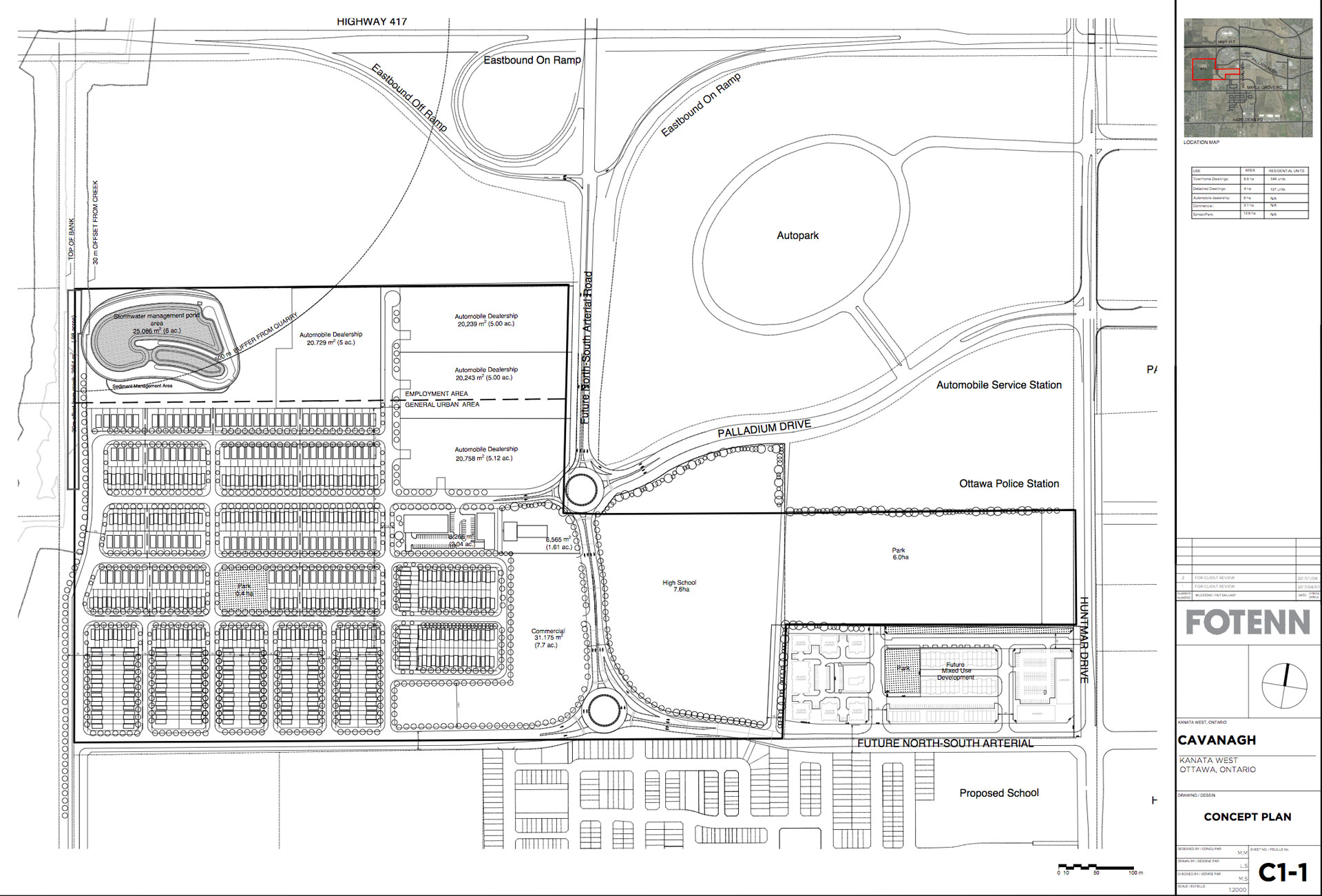 Revised site plan for 195 Huntmar.