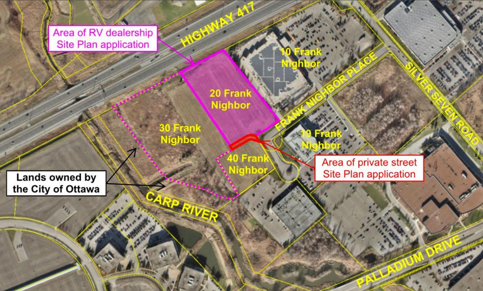 Map showing the location of the 20 Nighbor Place land, from documents submitted as part of the site plan appilcation.