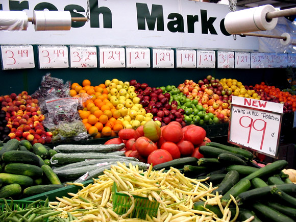 Colours of the Market. Located near the corner of Parkdale and Wellington in the heart of Hintonburg, the Parkdale Market first opened its doors over 75 years ago. Photo by Glen Gower.