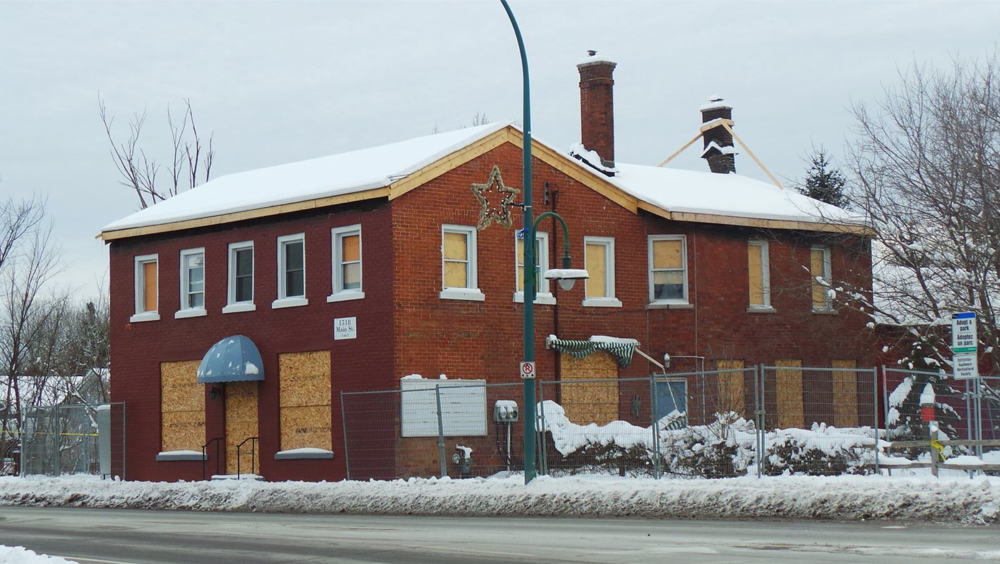 Former Bradley's General Store, winter 2013