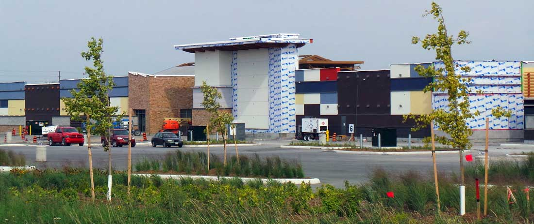 Tanger Outlets under construction, August 2014