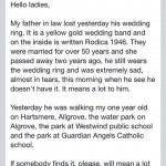 Did anyone find a wedding ring in the Westwind area?
