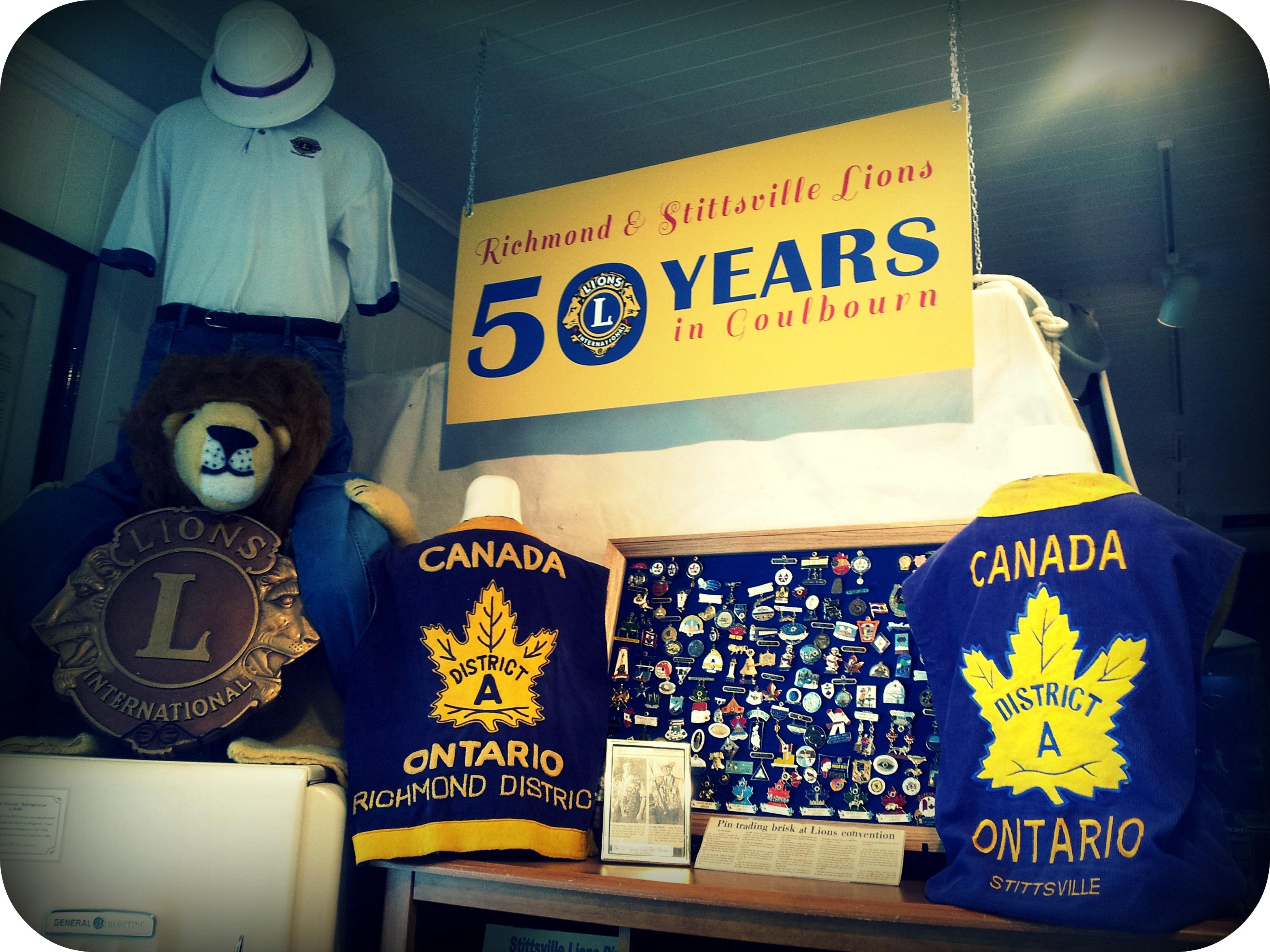 Lions 50 Years memorabilia