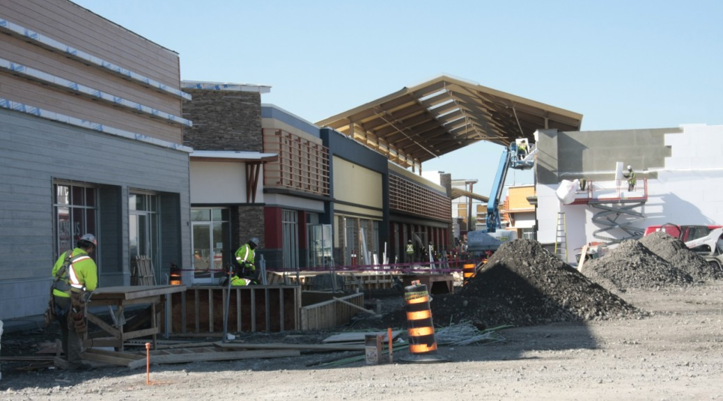 Tanger Outlets under construction. Photo by Grace Odumo.