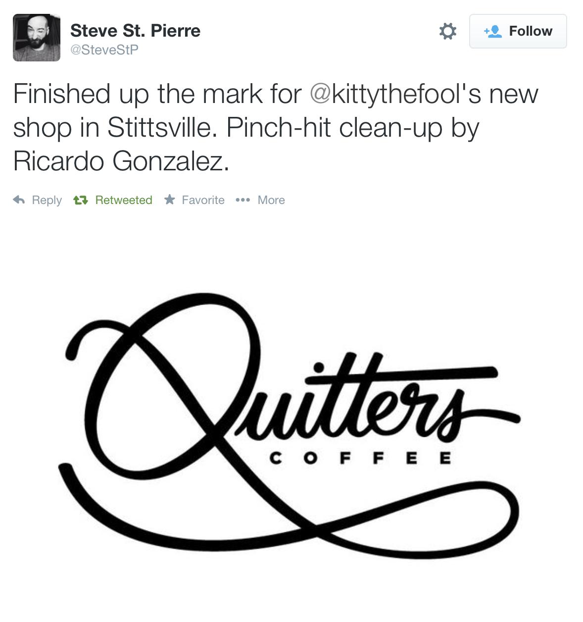 Quitters logo by Steve St. Piierre