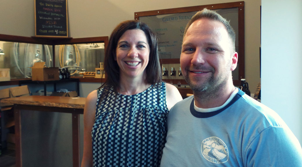 Kathy and John vanDyk, owners of Covered Bridge Brewing