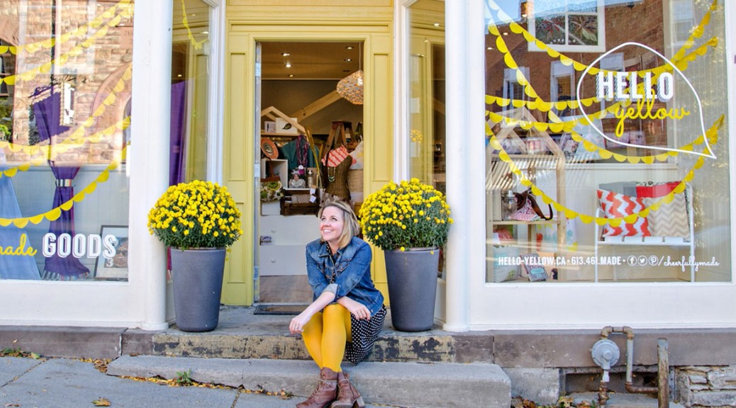 Emily Arbour, owner of Hello Yellow in Almonte