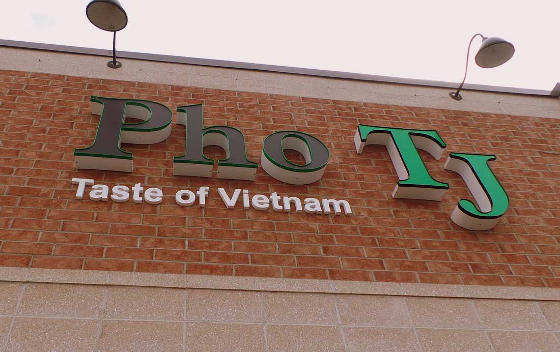 Pho TJ is located at 1261 Stittsville Main Street near the Scotiabank.