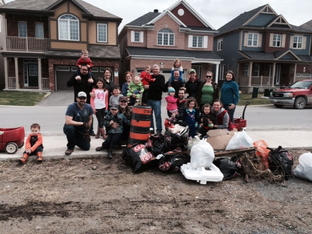 Residents of Fairwinds take part in Cleaning the Capital last spring