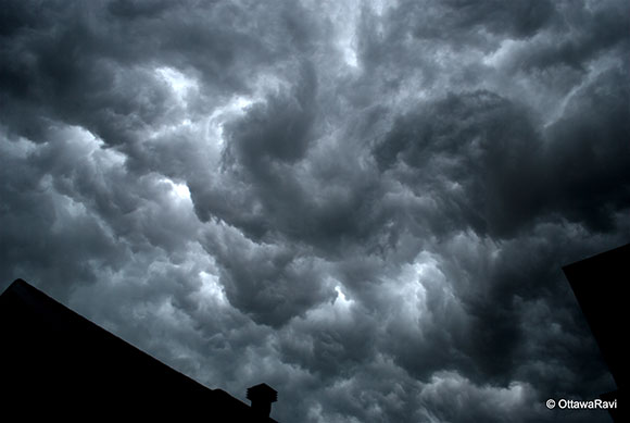 Storm clouds over Stittsville, by B. R. Ravishankar