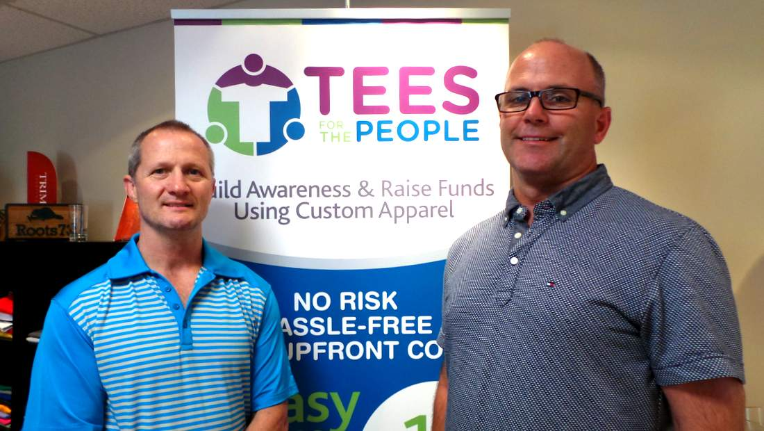 Tees for the People founders Pat Sullivan (left) and Derek Donaldson