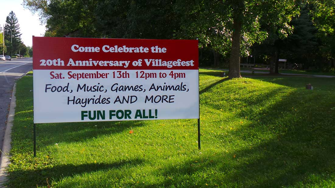 Stittsville Village Fest sign