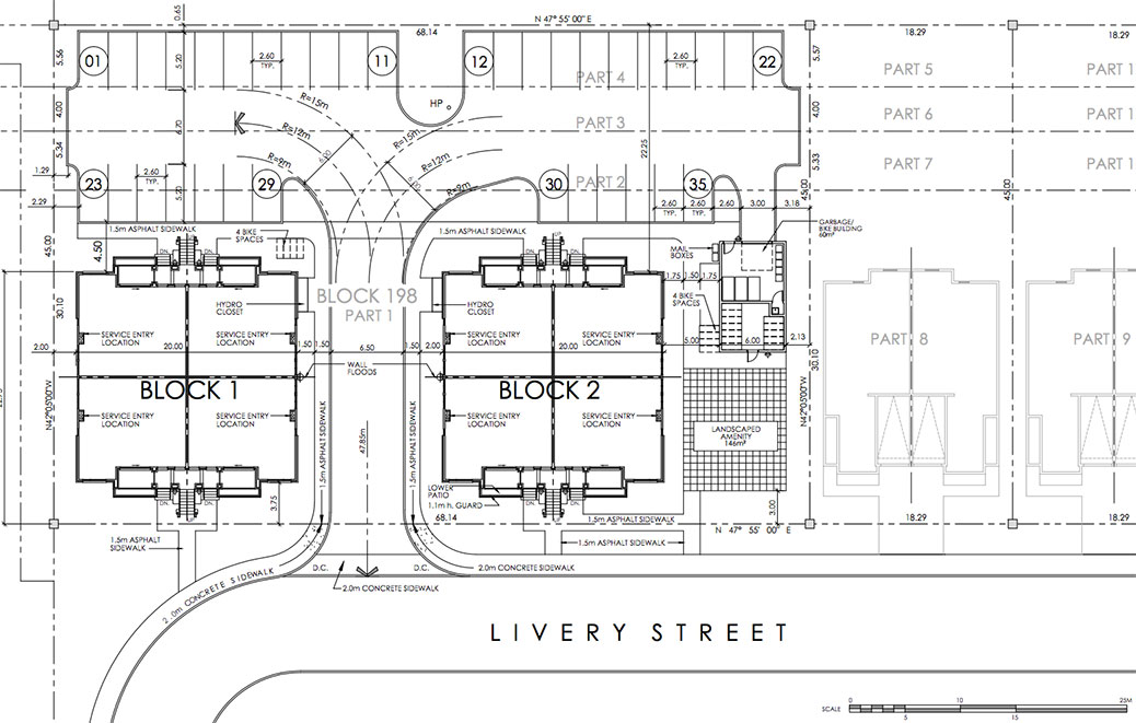 Site plan for 306 Livery Street
