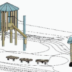 Village Square Park maintains historical train theme in City's updated concept plan