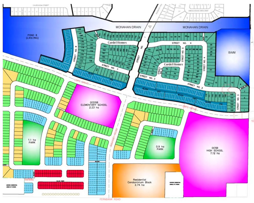Plan of subdivision for 5505 Fernbank