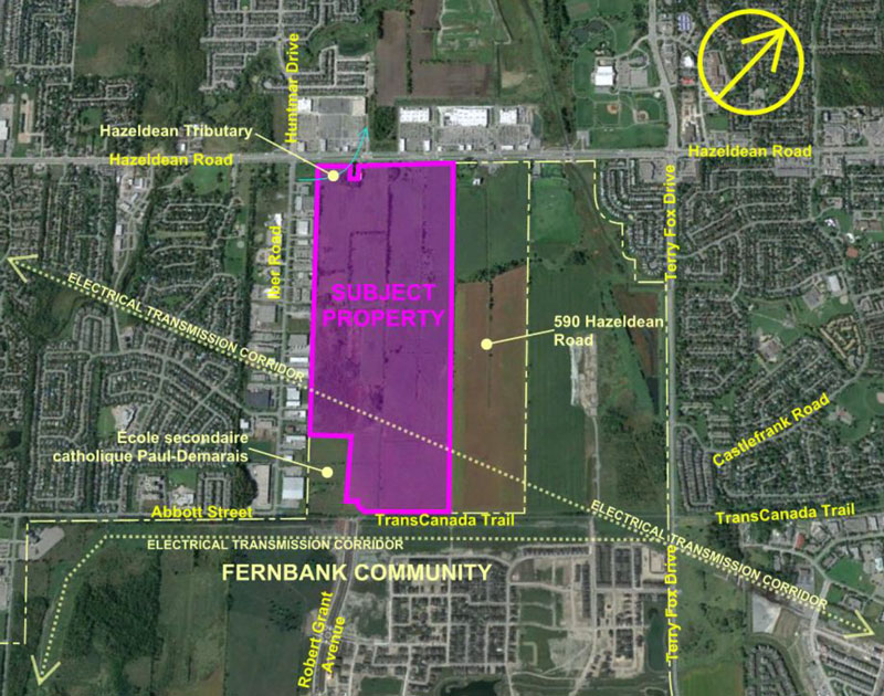 Location of the 5618 Hazeldean property