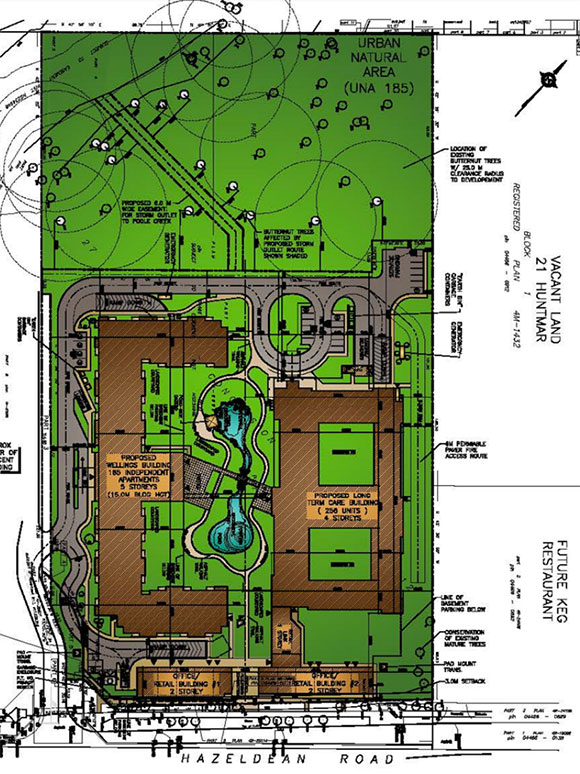 Site plan for 5731 Hazeldean Road