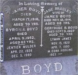 James and Jane Boyd are buried at the Carp Road Presbyterian Cemetery