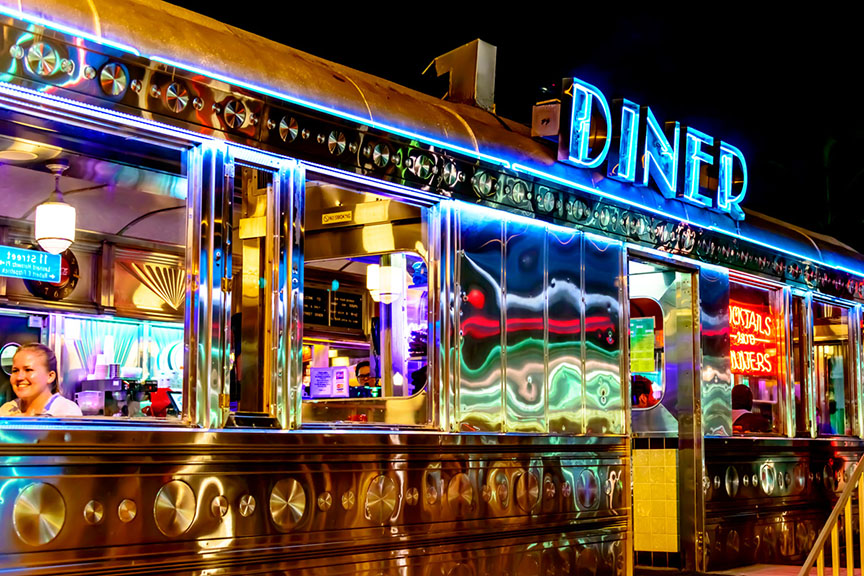 """South Beach Deco Diner"" / Photo by John Edkins"