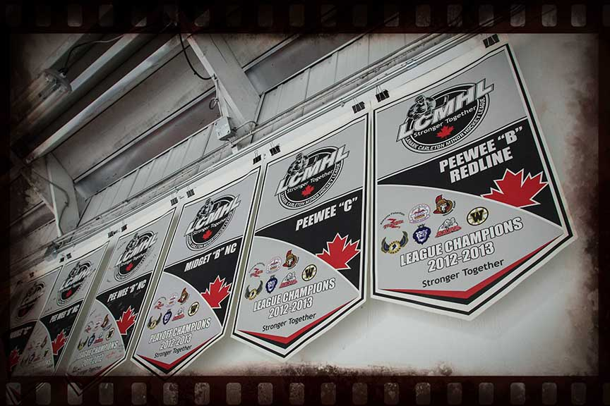 Banners inside the arena. Barry Gray (for StittsvilleCentral)