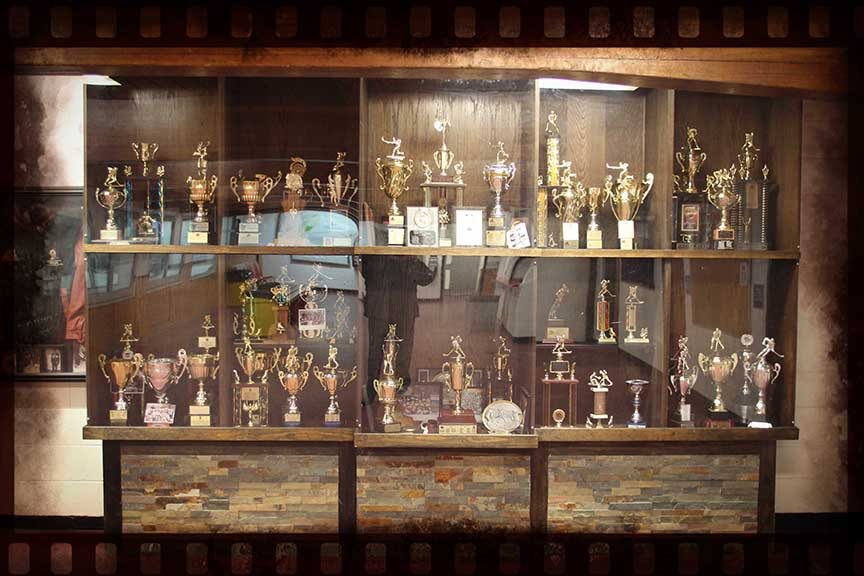 Trophy display case in the lobby of the arena. Barry Gray (for StittsvilleCentral)
