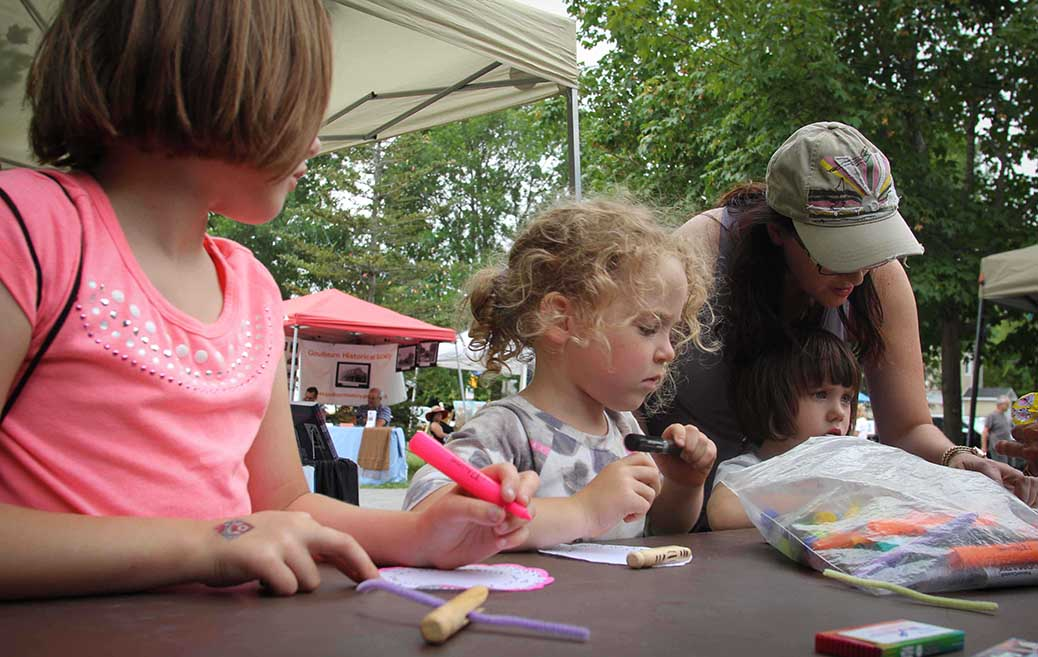 STITTSVILLE, ON, August 14, 2016. Making art at Art in the Park at Village Square. Barry Gray (StittsvilleCentral)