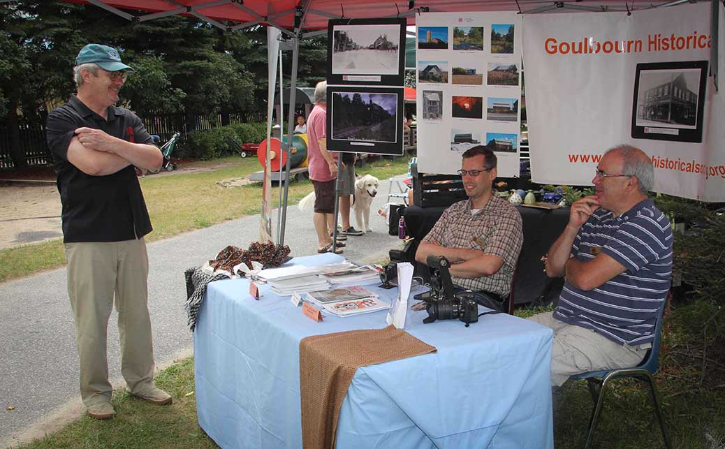 STITTSVILLE, ON, August 14, 2016. Goulbourn Historical booth Art in the Park at Village Square. Barry Gray (StittsvilleCentral)