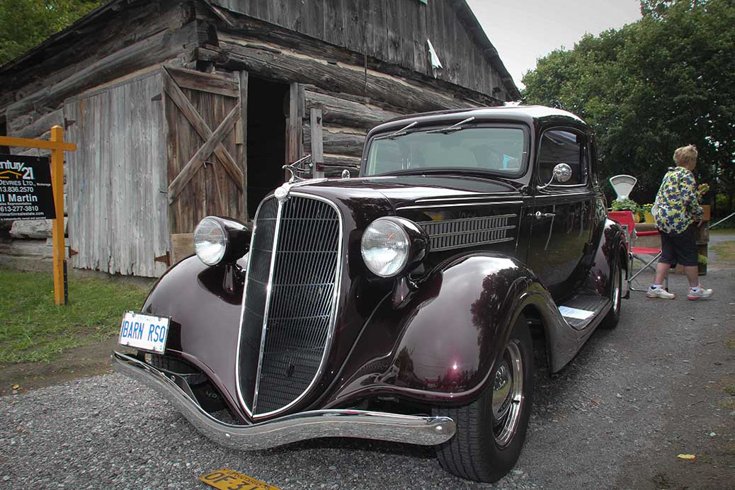 STITTSVILLE, ON, August 14, 2016. Old car parked in front of the barn at Art in the Park at Village Square. Barry Gray (StittsvilleCentral)