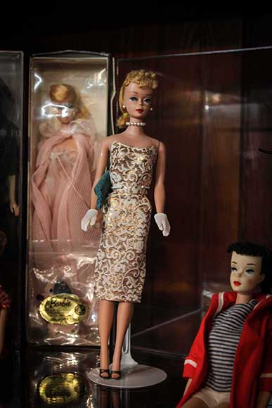 One of the Barbies on display at the Flea Market & Kondruss Galleries on Carp Road.   (Photo by Barry Gray/For StittsvilleCentral.ca)