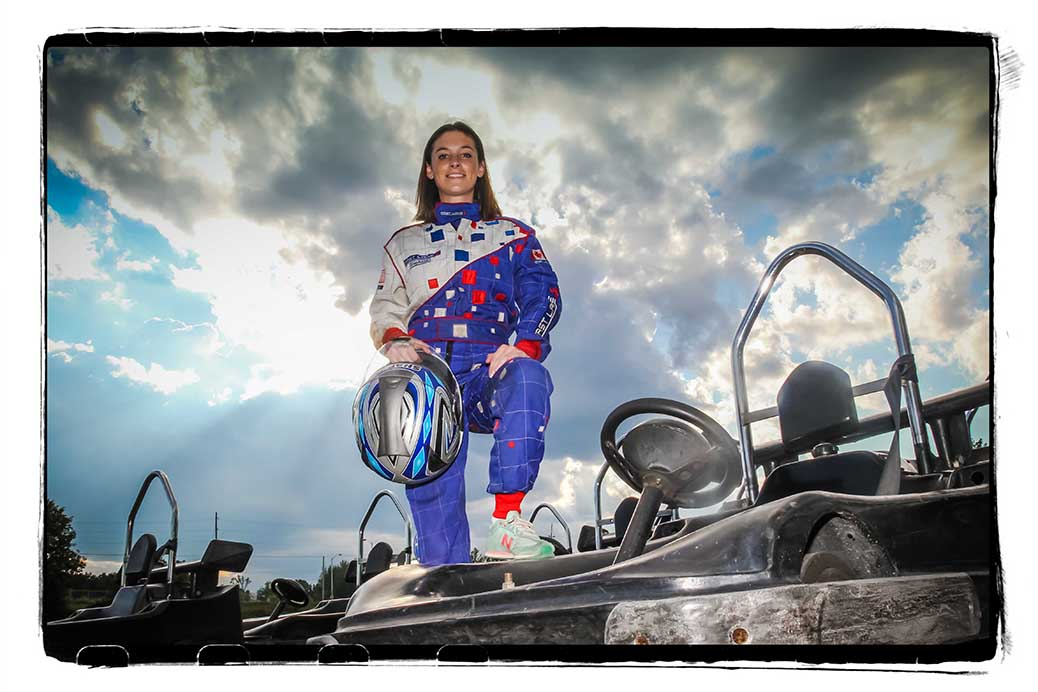 Stittsville's Stephanie Berg will be competing at the Capital Karting 2016 Grand Prix at Karter's Korner on August 6-7. Photo by Barry Gray.