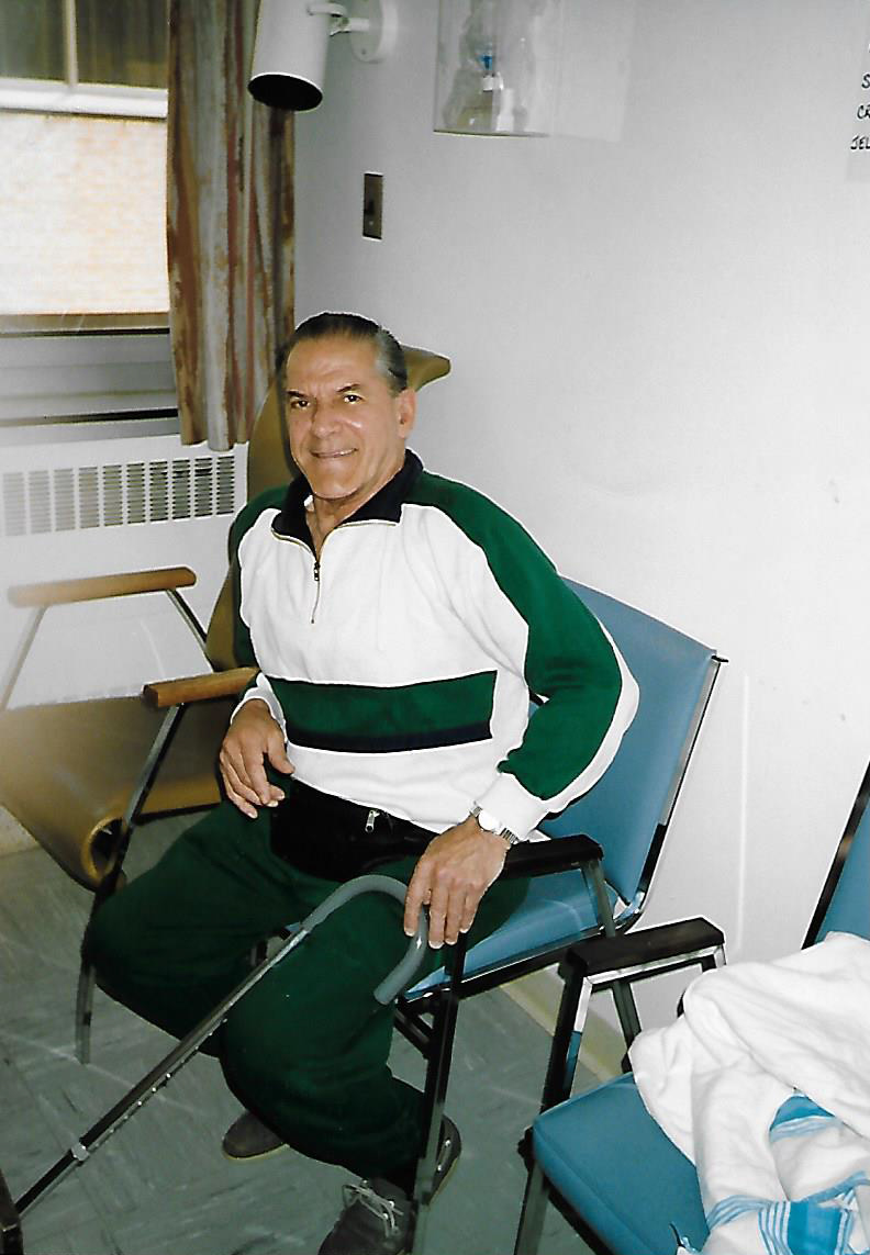 """""""A photo of my Dad (Bill McKay) from June 1992 while he was at the Toronto General Hospital awaiting his transplant. He looks so healthy, you wouldn't think of what was ahead of him on February 16, 1993 when he finally received his lungs,"""" writes Lesley McKay."""