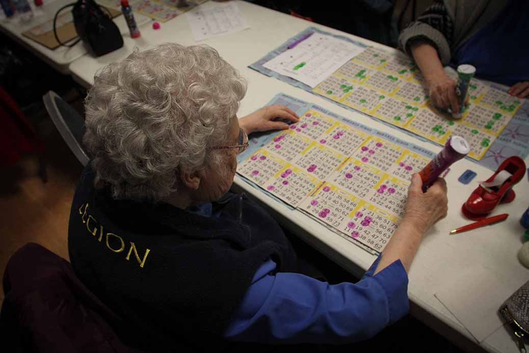 STITTSVILLE, ON. December 16. 2015. Christine Forbes has been coming to the bingo night for over 40 years. Barry Gray (For StittsvilleCentral).