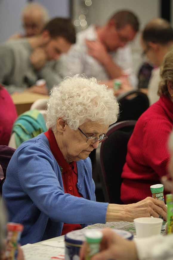 STITTSVILLE, ON. December 16. 2015. All eyes down when the bingo numbers are being called. Barry Gray (For StittsvilleCentral).