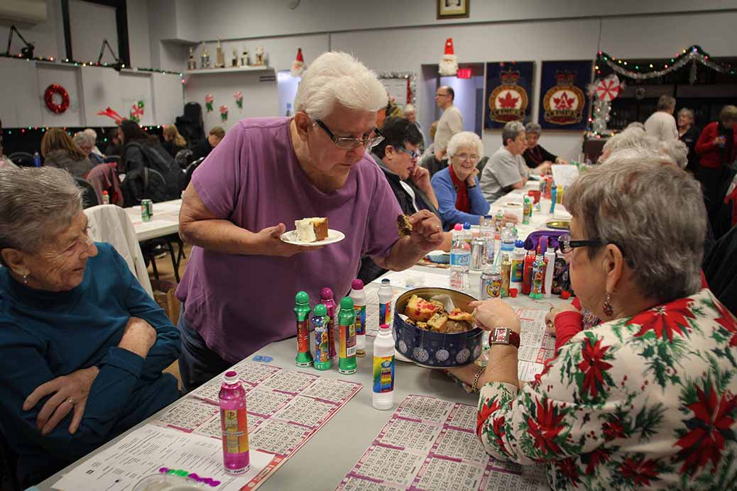 STITTSVILLE, ON. December 16. 2015. They brought cake, cookies, candies…….the bingo night is a socal night for many regulars. Barry Gray (For StittsvilleCentral).