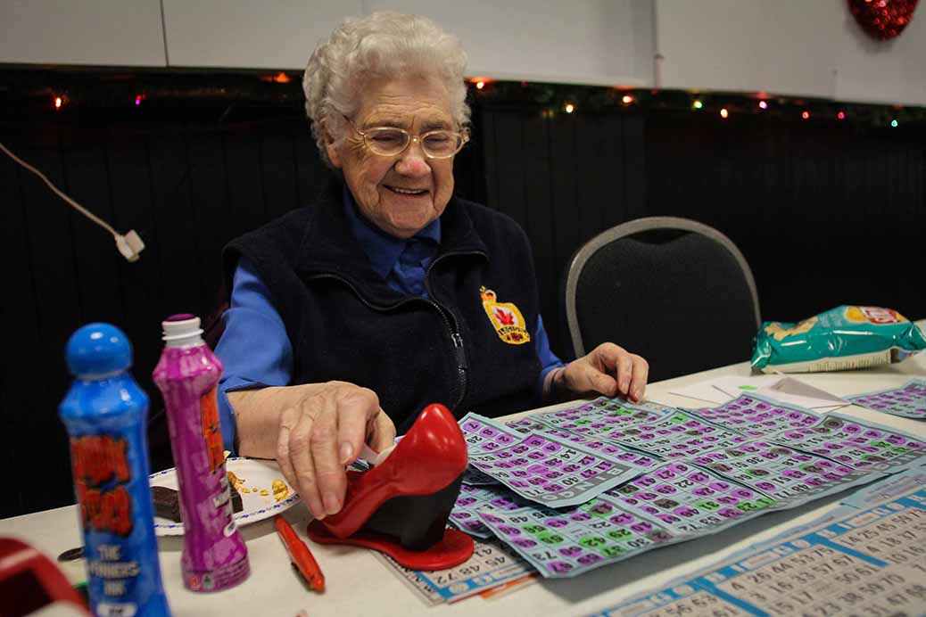 STITTSVILLE, ON. December 16. 2015. Legion member Christine Forbes has been coming to the Legion bingo night for more than 40 years. Barry Gray (For StittsvilleCentral).