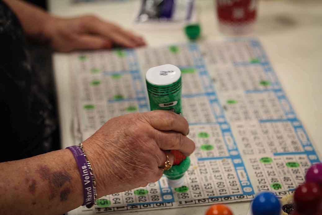 STITTSVILLE, ON. December 16. 2015. Marking up the bingo sheets. Barry Gray (For StittsvilleCentral).