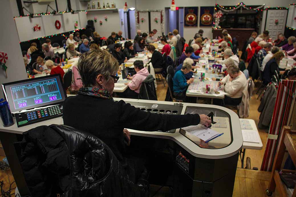 STITTSVILLE, ON. December 16. 2015. Sue McCormick 1st Vice President and Bingo Chair at the Legion calls the numbers for the last eveing of bingo at the Legion. Barry Gray (For StittsvilleCentral).