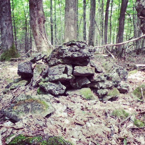 Old stone burial cairn