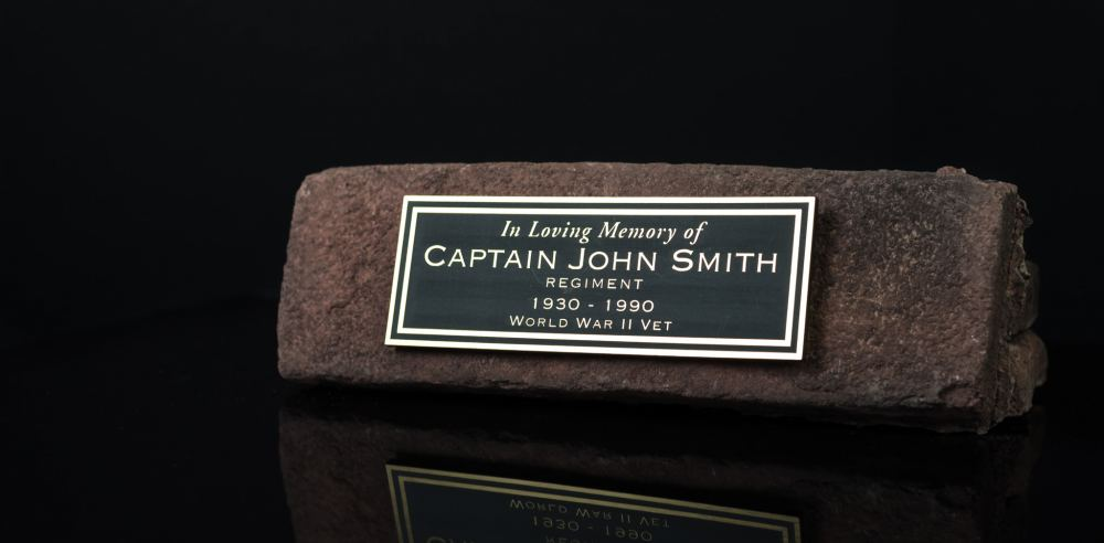 An example of a commemorative wall brick sold by the Stittsville Legion.