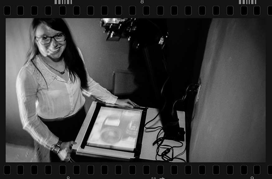 STITTSVILLE, ON., March 7, 2016. Stittsville photograper Kristin Davis in her darkroom where she prints black and white photos. Barry Gray (For StittsvilleCentral)