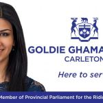 Goldie Gharmari, MPP Carleton, comments on provincial government initiatives
