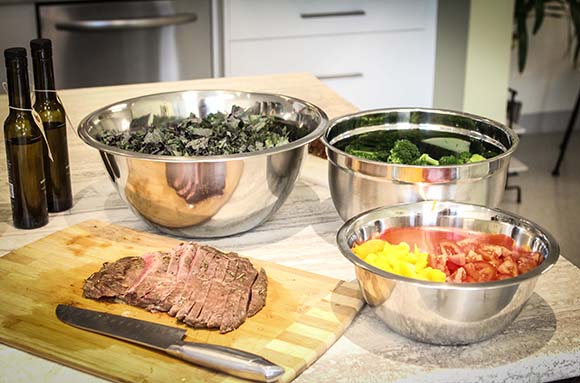 Food prepared in Healty Balance kitchen. Photo by Barry Gray.
