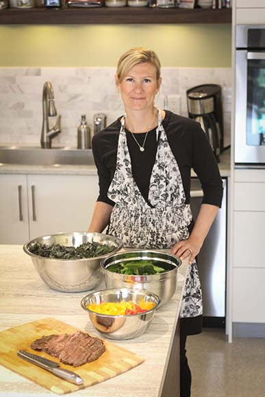 Sous chef Alana Thomson in the Healty Balance kitchen. Photo by Barry Gray.
