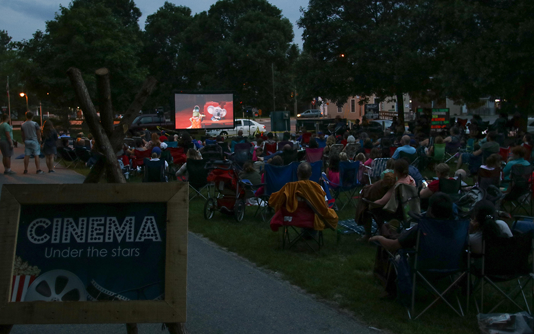 Cinema under the stars. Photo by Barry Gray.