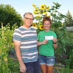 Stittsville Goulbourn Horticultural Society presents garden tour donation to Jo-Jo's Community Garden